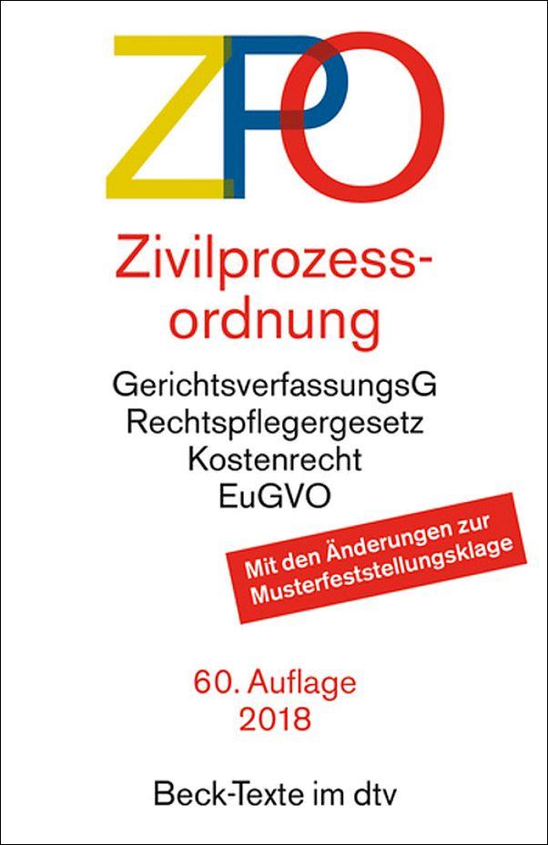 ZIVILPROZESSORDNUNG-ZPO-49-Auflage-2012-beck-Texte-im-dtv-NEU